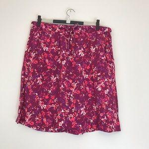 Eddie Bauer Lightweight above knee floral skirt